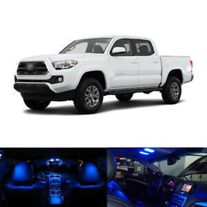 9 X Blue Led Interior Bulbs License Plate Lights For 2016 2017 2018 2019 Tacoma