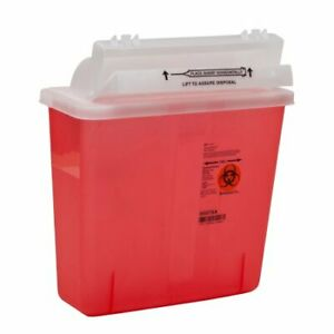 Sharpstar In room Multi purpose Sharps Container Red Base 5 Quart 20 case