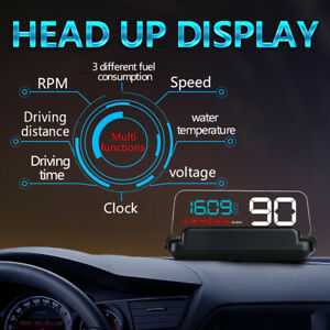 C500 Obd2 Hud Head up Display With Mirror Projection Digital Car Speed Projector