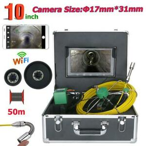 Inspection Video Camera Wifi Wireless 17mm 1000 Tvl 30m 10inch 8pcs Led Lights