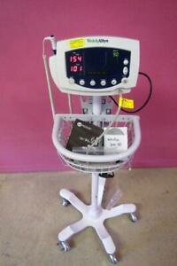 Welch Allyn 53nt0 Vital Signs Monitor Nibp Temp W Stand New Battery