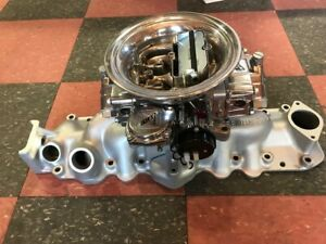 Offenhauser Flathead 4 Barrel Intake Ford Mercury With Quick Fuel Carb Assembly