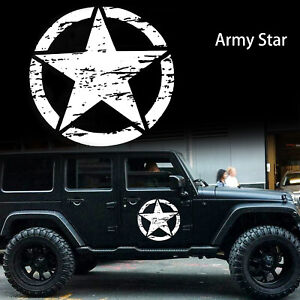 20 Distressed Army Star Sticker Hood Body Cars Truck Off Road Vinyl Decal