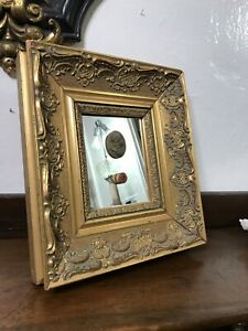 A Grand Tour Antique 18th Century Intaglio And Cameo With Golden Frame