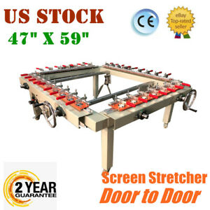 Us Stock High Precise 47 x59 Pneumatic Silk Screen Printing Stretcher Equipment