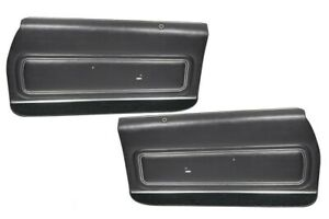 1972 Gto Lemans Sport Coupe Black Front Door Panels By Pui