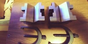 Starrett No 568 c V blocks Clamps Set Of 2 Machinist Tools New