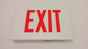 2 Nib Dual Lite Hubbell Lcsrwe Liteforms Cast Aluminum Led Emergency Exit Sign