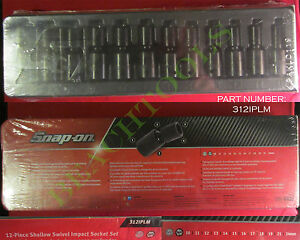 New Snap On 1 2 6 Pts Metric Shallow Swivel Impact Socket 12 Pcs Set 312iplm