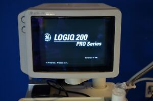Ge Logiq 200 Pro Series Ultrasound Machine W 2 Probes And Printer A Condtion
