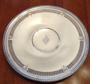 Nice Sterling Silver Pierced Plate Tray Dish 380 Grams 10 1 2