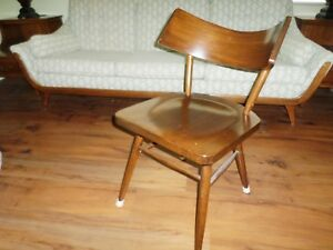 Vintage Mcm Edmond Spence Attributed Chair Wingback Solid Wood Danish