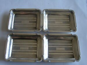 Set Of 4 Vintage Sterling Silver Hand Held Ashtrays 1940 S 1950 S