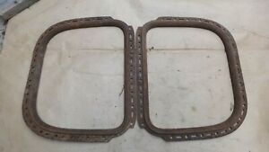 1928 1929 Model A Ford Coupe 1 4 Window Garnish Moldings Original Pair