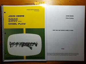John Deere 200f Series Chisel Plow Owner Operator Manual Om n159035 K5 Parts