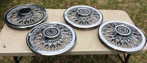 Oem Set Of 4 Ford Wire Spoke Wheelcovers 14 Mustang Cougar T Bird Capri