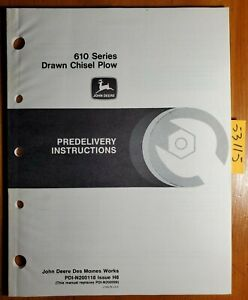 John Deere 610 Series Drawn Chisel Plow Predelivery Instructions Manual 8 88