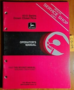 John Deere 1610 Series Drawn Chisel Plow S n 13493 Owner Operator Manual 10 82