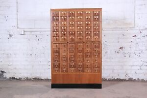 Mid Century 72 Drawer Library Card Catalog