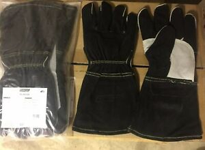 6 Pair Xl Ironclad Mig Welder Premium Leather Welding Gloves