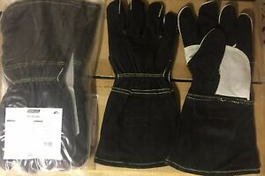 6 Pair Large Ironclad Mig Welder Premium Leather Welding Gloves
