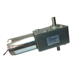 12vdc 55rpm Dc Worm Geared Motor Double Shaft Gearbox Dual Turbo Motor
