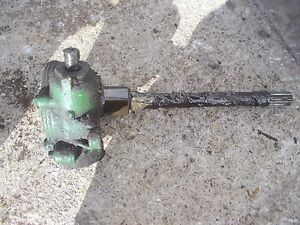 John Deere 40 Tricycle 40t Tractor Front Pedestal Steering Gear Box Assembly