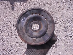 Massey Harris 22 Tractor Mh Engine Motor Front Crankshaft Belt Drive Pulley 22