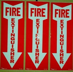 4x12 Vinyl Fire Extinguisher Sign Self Adhesive 3pk Wow What A Deal