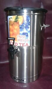 Bunn Tdo 4 Stainless Steel Commercial Iced Tea Dispenser 4 Gal W brew Thru Lid