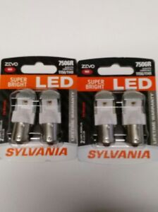 Sylvania Premium Led Light Bulb 1156 7506 1141 Red 4 Pk