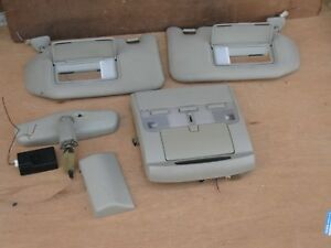 Jdm Nissan Cima F50 Sun Visors With Lighted Mirrors And Rear View Mirror Oem