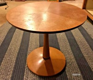 Mid Century Danish Modern Stewart Drexel Declaration Walnut Pedestal End Table