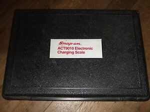 Snap On Act 90100a Automatic Charging Meter Refrigerant Scale