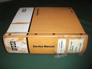 Case Maxi sneaker Trencher Service Shop Repair Workshop Manual Original