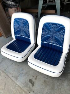 1962 Thunderbird Custom Bucket Seats Fat Lucky Upholstery Hot Rod