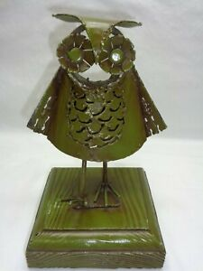 Mid Century Danish Modern Metal Owl Sculpture Retro 1960s 70s Accent Art Decor