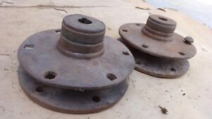 1915 1927 Model T Ford Rear Hubs For Wood Spoke Wheel Original Pair