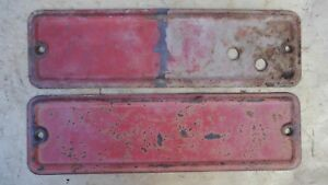 1935 1936 Ford Truck Windshield Wiper Access Covers Original Pair Pickup Panel