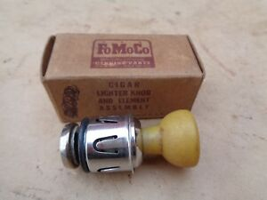 Nos 1950 Ford Cigar Cigarette Lighter Original Knob Element Assembly