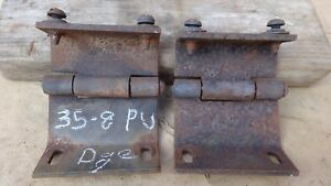 1935 1938 Dodge Truck Windshield Hinges Original Pair Plymouth Pickup Panel