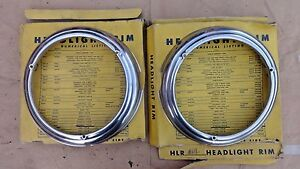 Nors 1946 1947 1948 Plymouth Headlight Bezels Doors Trim Rings Older Aftermarket