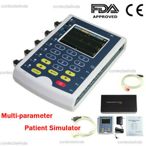 Ms400 Portable Multiparameter Touch Color Patient Monitor Ecg Simulator Ce Fda