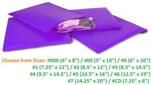 Poly Bubble Mailers 000 00 0 1 2 3 4 5 6 7 Padded Envelopes Purple