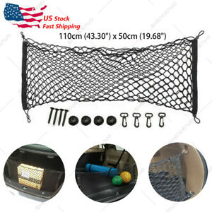 2pc Organizer Storage Mesh Rear Trunk Cargo Net For Subaru Forester 14 18