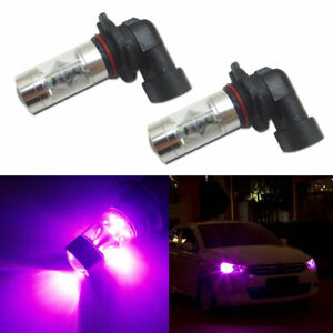 2x Pink Purple 9005 Dual Reflector Led Bulbs For Drl High Beam Fog Lights