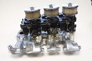 Chrome Weiand O3d Tri Power Intake With Carburetors