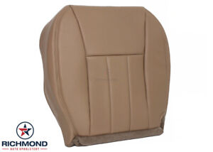 1997 1998 Jeep Cherokee Driver Side Bottom Replacement Leather Seat Cover Tan