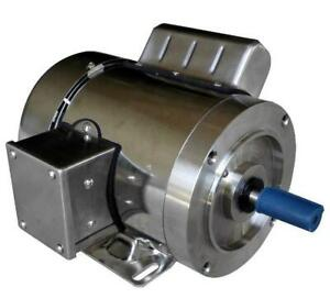 Gator Stainless Steel Ac Motor Single Phase 3 4hp 1800rpm 56c Tefc 1 Yr Warranty