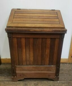 Antique General Store Wood Coffee Bin